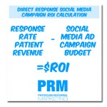 healthcare social media roi calculation direct response campaign