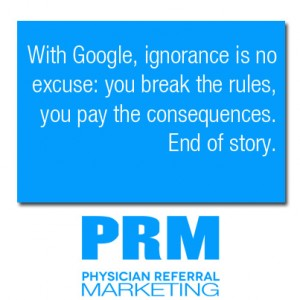 google seo marketing for physicians